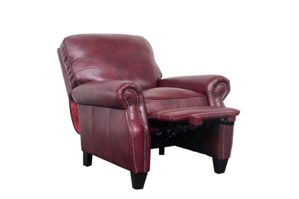 Barcalounger Briarwood II Genuine Wenlock Carmine All Leather Recliner Chair