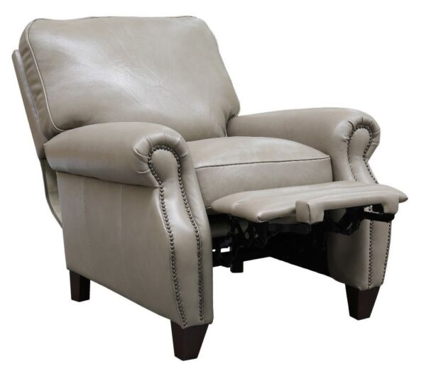 Barcalounger Briarwood II Genuine Wenlock Taupe All Leather Recliner Chair