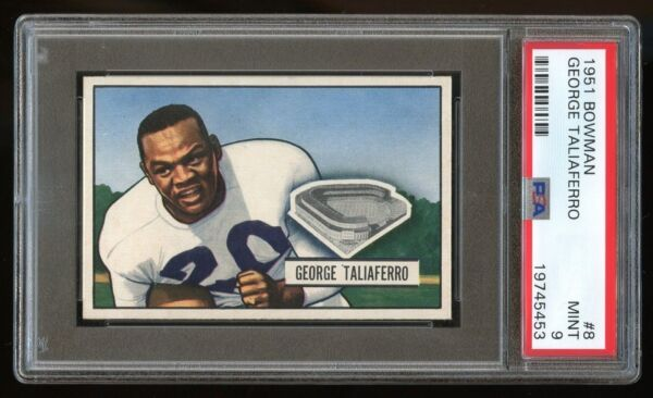 1951 Bowman #8 George Taliaferro *NY Yanks* PSA 9 MINT #19745453