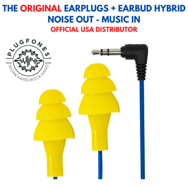 Plugfones Earplug Headphones Original (Yellow)