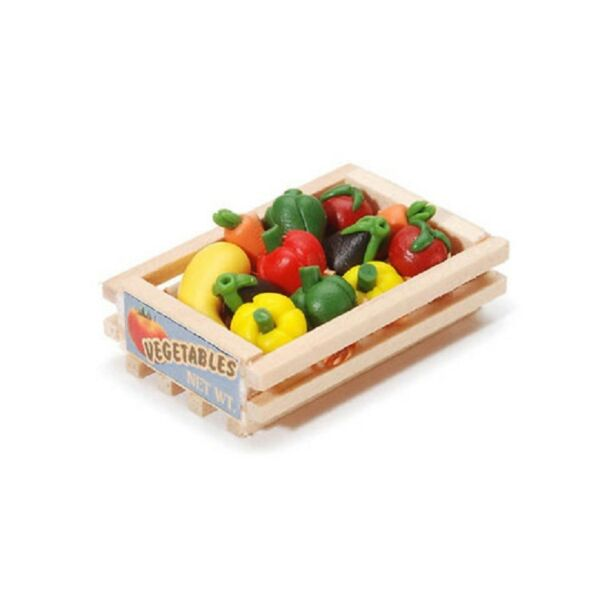 Miniature Vegetable Wood Crate - 1.5 inches - 1 set