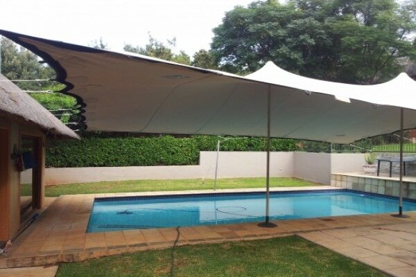 Waterproof Wedding Event Yard Lawn Patio Awning Canopy Bedouin Stretch Tent NEW