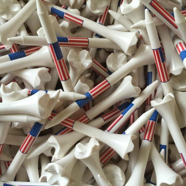 100 3 1 4quot; 3.25 Pride Evolution American Flag USA Golf Tees White Wholesale $14.95