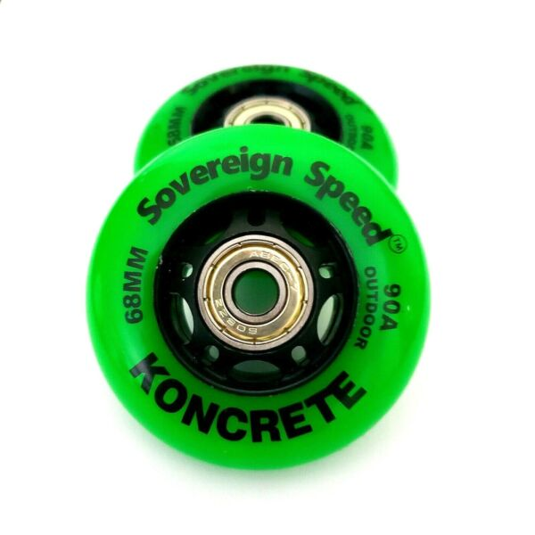 2x 68mm Outdoor Replacement Inline Wheels Mini Razor Ripstik Ripster Casterboard $19.99