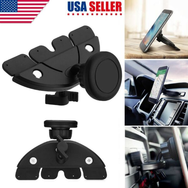 Magnetic Car Dash CD Slot Holder Mount Stand For iPhone Cell Phone GPS