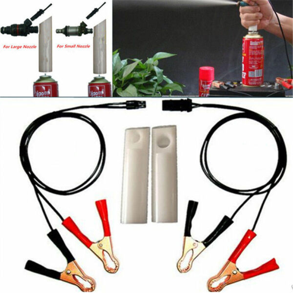 Car Vehicle Fuel Injector Flush Cleaner Adapter DIY Kit Cleaning Tool Nozzle