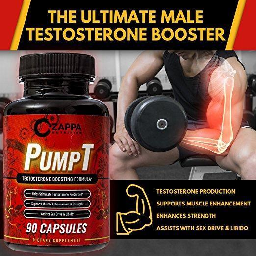 Testosterone Booster All Natural for Strength and Stamina for Men PumpT $17.95