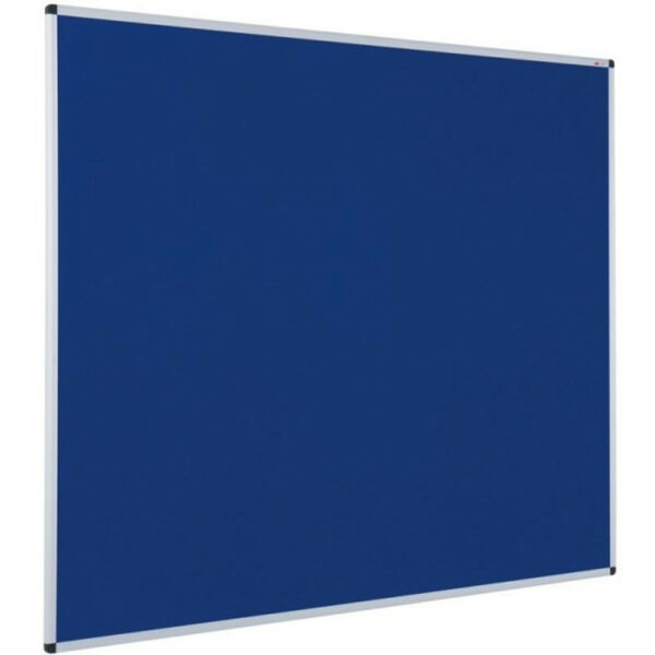 Blue Felt Notice Board Aluminium Frame Office School Push Pin Message Memo board