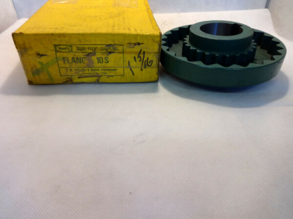 NEW IN BOX WOODWOODS SURE FLEX COUPLING FLANGE 10S 1-1516' MAX RPM 3600