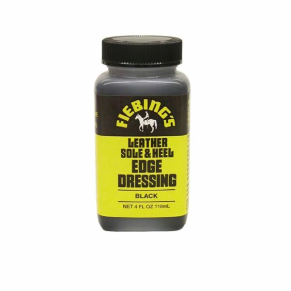 Fiebing's Leather Sole and Heel Edge Dressing Black 4oz NEW $8.49