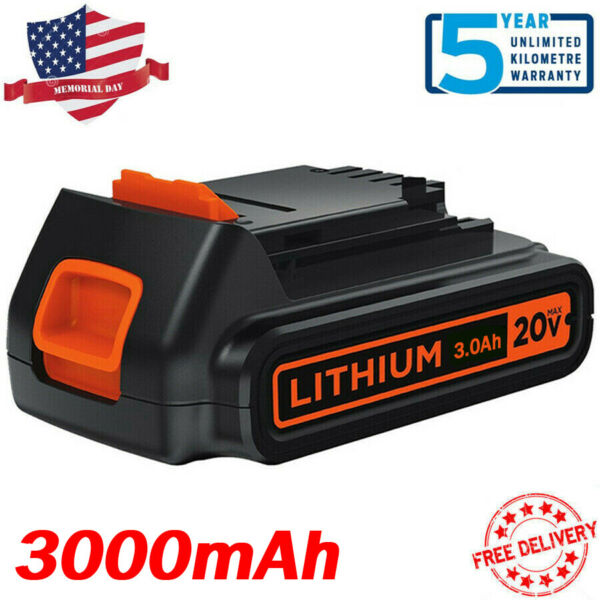 3.0Ah For Black amp; Decker 20V Max Lithium Battery 20 Volt LBXR20 LB20 LBXR20 OPE