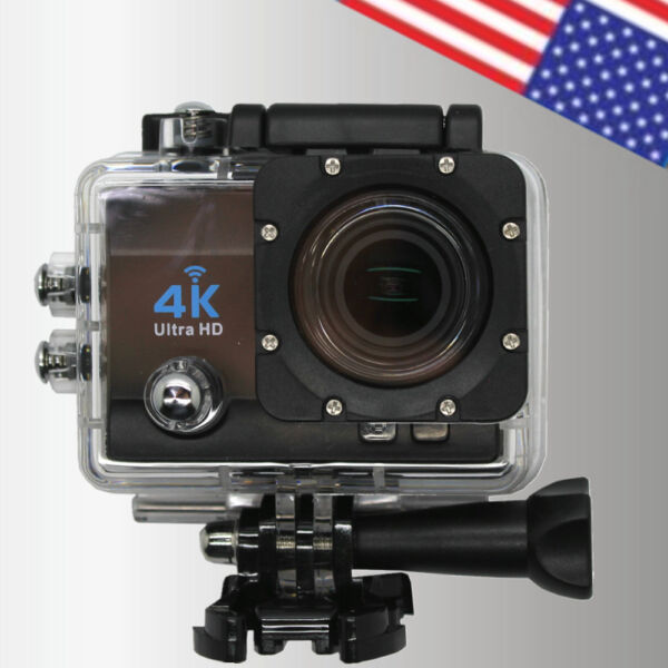 1080P 60FPS WIFI Action Sports Camera 4K Ultra-HD Cam Video Camcorder 2 Inch LCD