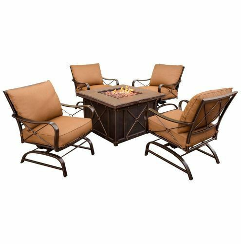 Hanover SUMMRNGHT5PC Summer Nights 5-Piece Fire Pit Lounge Set