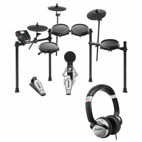 Alesis Nitro Mesh 8 Piece Electronic Drum Kit with Sticks + Headphone +10' Cable