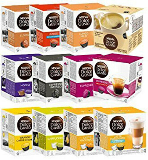 Nescafe Dolce Gusto Coffee Capsules - Different Flavors 50 Capsules per Box