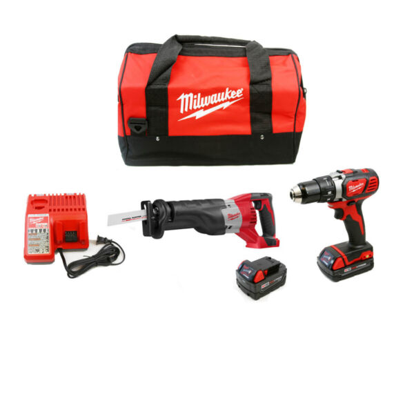 Milwaukee 2694-22CX M18 Cordless 2-Tool Combo Kit