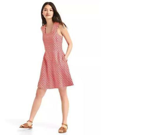 Gap Linen Fit and Flare Dress Sz 14 Tall Rosehip 102236 $24.99
