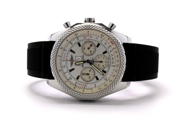 Breitling for Bentley 6.75 Speed Stainless Steel Silver Storm Dial A44364 990A