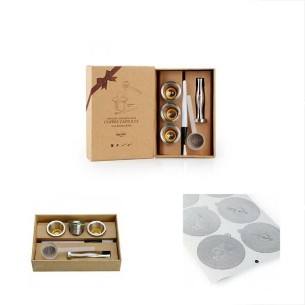 Reusable Filters RECAPS Stainless Steel Refillable Nespresso Pods Coffee Machine