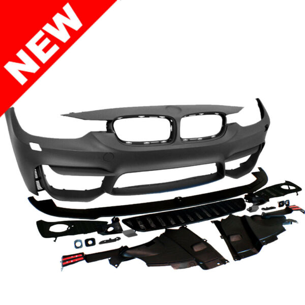 12-15 BMW F30 3-Series M3 Fog Style No PDC Front Bumper Kit w Aero Lip