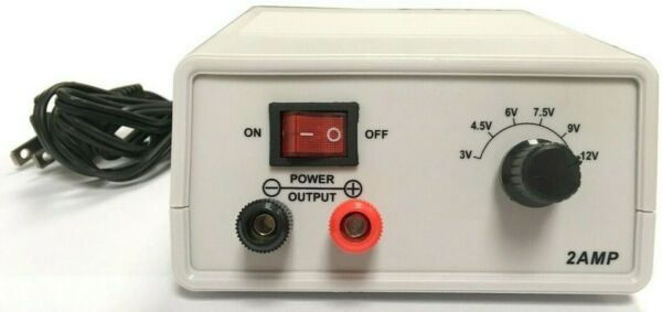 DC Power Supply 3V 4.5V 6V 7.5V 9V 12V 2A
