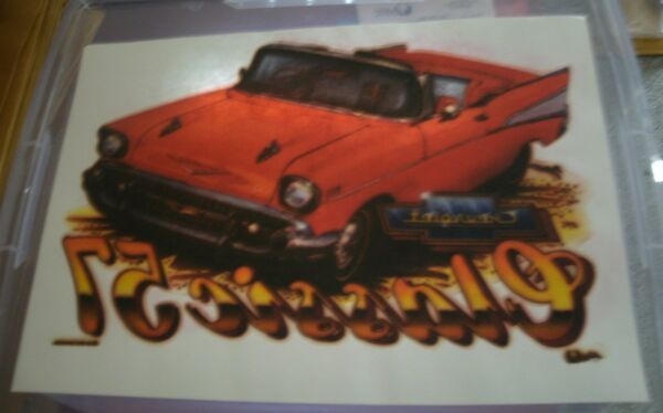 Vintage Chevrolet 57 Classic T-Shirt Iron On Transfer