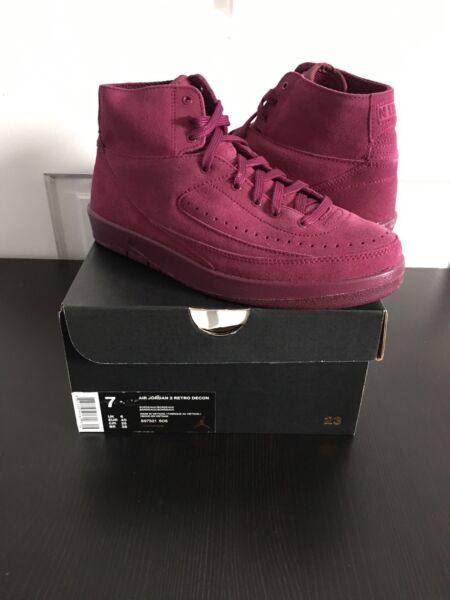 Nike Air Jordan Retro 2 Decon Bordeaux Maroon 100% Authentic W/Receipt