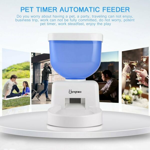 5L Automatic Pet Feeder Programmable Dog Cat Timed Auto Dispenser Voice Recorder