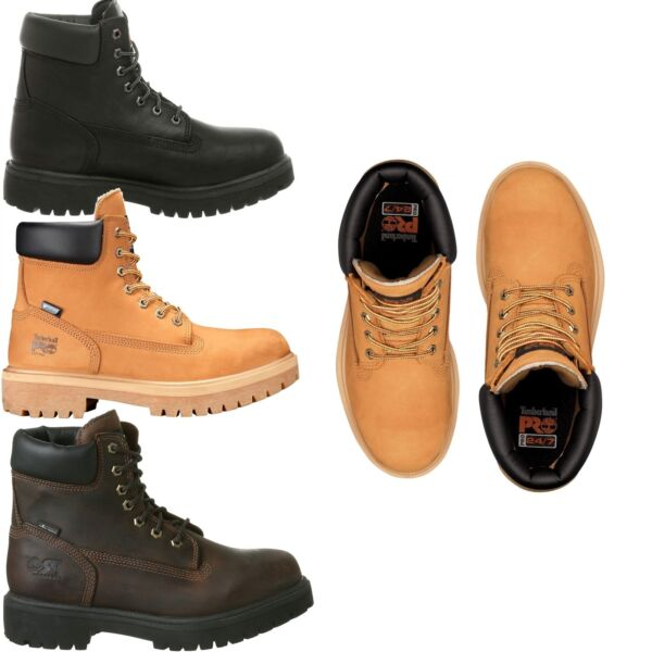 NEW Men's Timberland PRO Direct Attach 6#x27;#x27; Soft Toe Work Boots 200G Insulated WP $125.95
