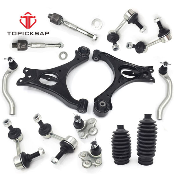 14pc Front Lower Control Arm Ball Joint Sway Link Tierod 2006-2011 Honda Civic