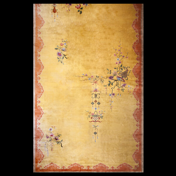 Antique Chinese Art Deco Rug 14'6