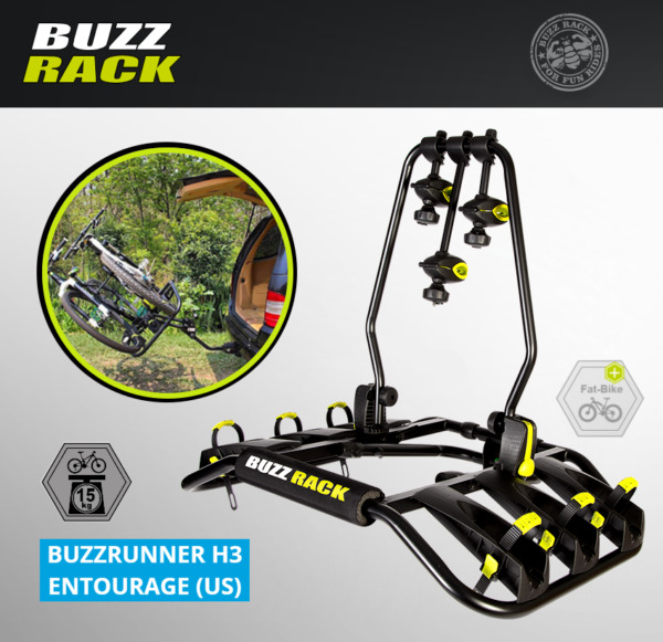 BUZZ RACK Entourage 3 Bike Platform Hitch Rack BUZZRUNNER H3 $269.99