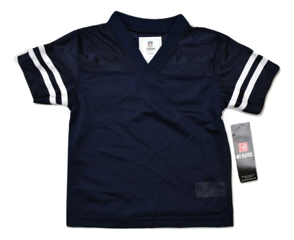 NFL Team Apparel Toddler Blank Blue Football Jersey NWT 2T 3T 4T