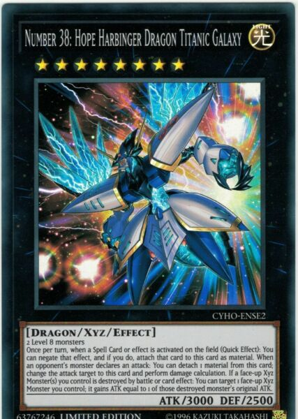 Yugioh! Number 38: Hope Harbinger Dragon Titanic Galaxy - CYHO-ENSE2 - Super Rar