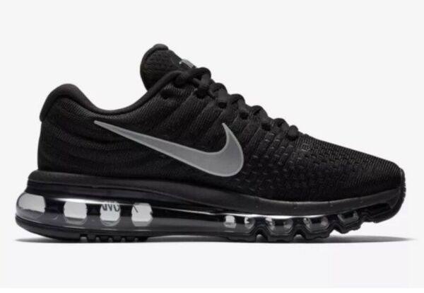 Nike Air Max 2017 Sz 6.5 Black Anthracite Womens Running Shoes NEW 849560 001