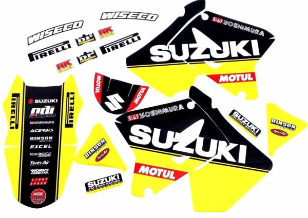 FACTORY SUZUKI TEAM GRAPHICS RM125 RM250 2001 2002 2003 2004 2005 2006 2007 2008