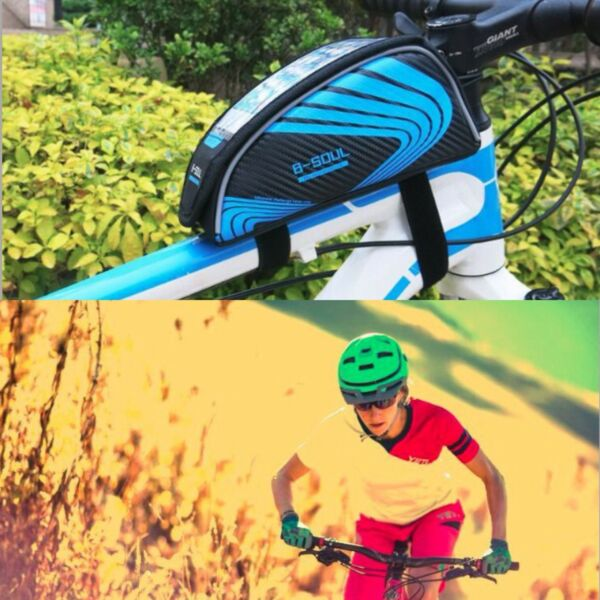 Bicycle Bags Cycling Bike Frame Front Tube Storage for Mobile Phone Waterproof $7.90