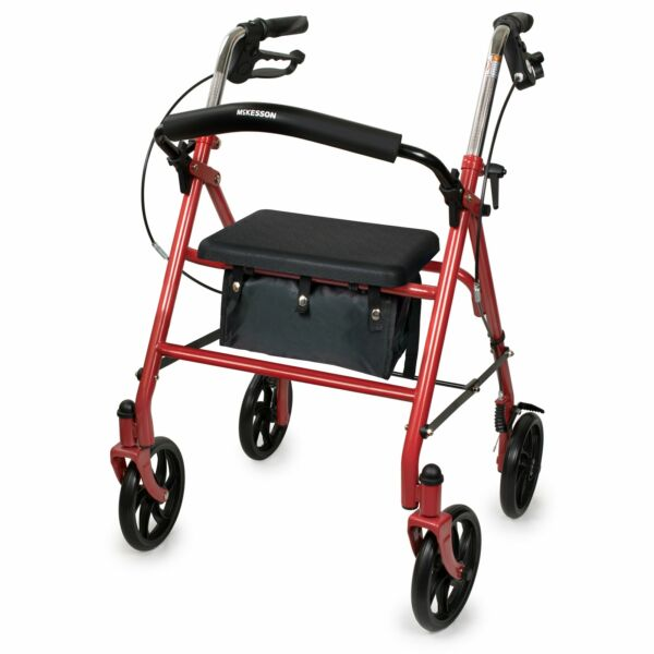 McKesson Rollator 300 lbs. Steel 31 to 37 Inch Handle Height