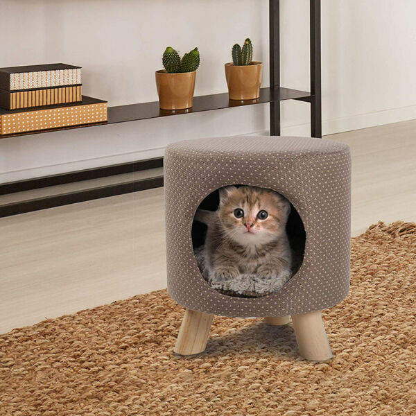 Cat Condo Pet Kitty Play House Supplies Tree Cave Shape Post Furniture
