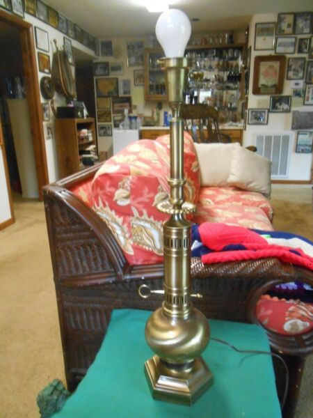 Great  BRASS Electric Table Lamp bought at ETHAN ALLEN Furniture Store