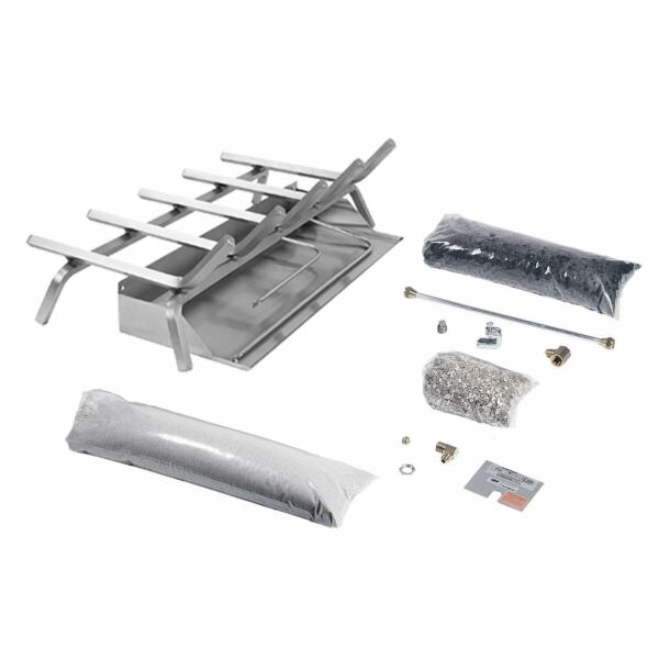Rasmussen Flaming Ember XTRA Stainless Steel Burner and Grate Kit Natural Gas
