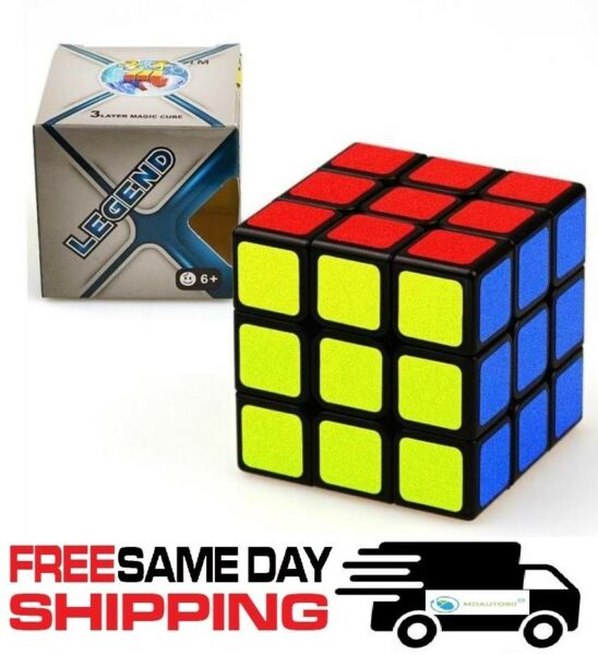 Educational 3x3x3 Speed Cube Toy for Kids or Adults Brain Game Puzzle Twist
