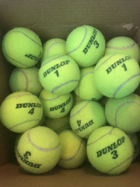 1 2 4 8 10 or 25 used high quality TENNIS BALLS good condition DOG TOYS WALKERS $4.99
