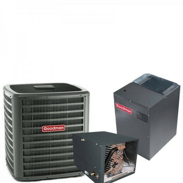 5 Ton Goodman 16.5 SEER R410A Two-Stage Variable Speed Horizontal Heat Pump