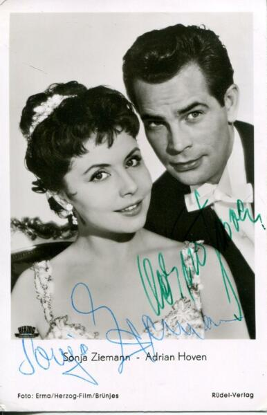 Sonja Ziemann Autograph Signed Photo Actress Black Forest Girl amp; Adrian Hoven