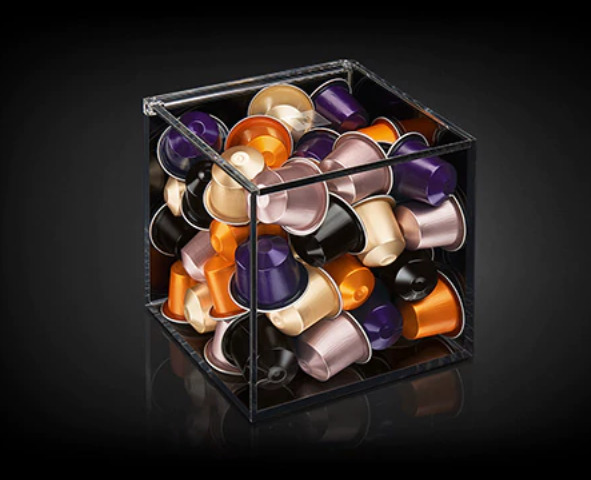 Nespresso View  Collection CUBE CLEAR CAPSULE DISPENSER HOLDER NIB NEW