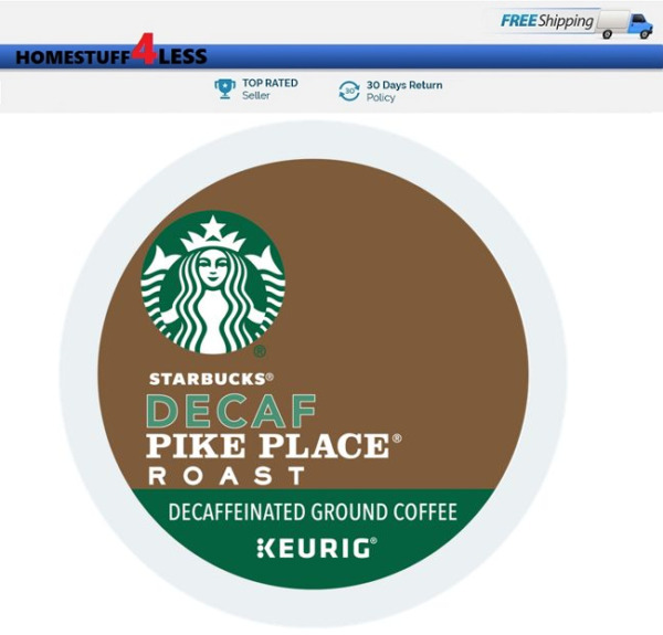 Starbucks Pike Place DECAF Keurig K-cups Coffee PICK THE SIZE