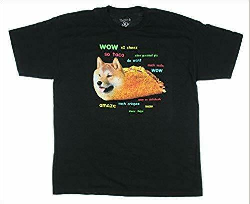 Walnut amp; 39th Mens Shiba Enu Inu Dog Taco Funny Shirt NWT XL $7.99