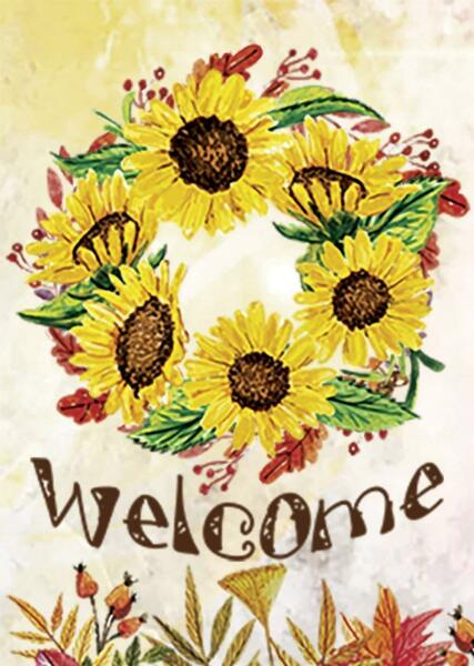 Morigins Home Decorative Welcome Fall Autumn Sunflower Double Sided Garden Flag