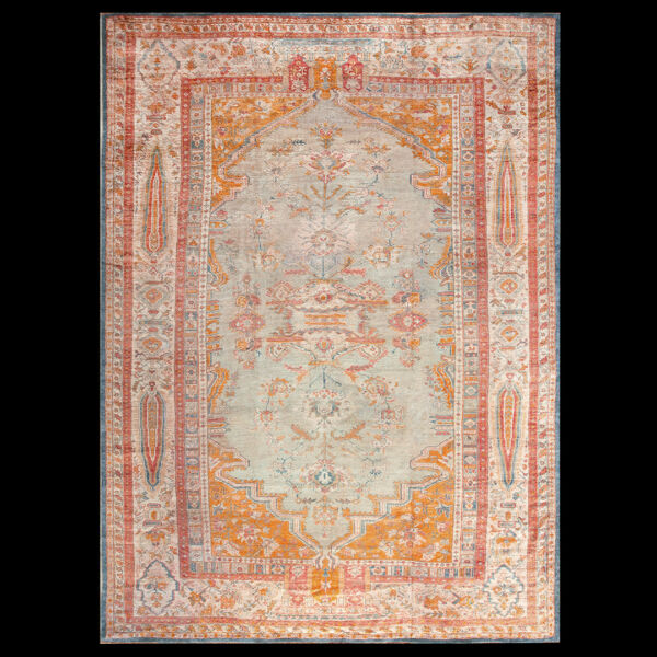 Antique Oushak Angora Rug 12' x 16'2